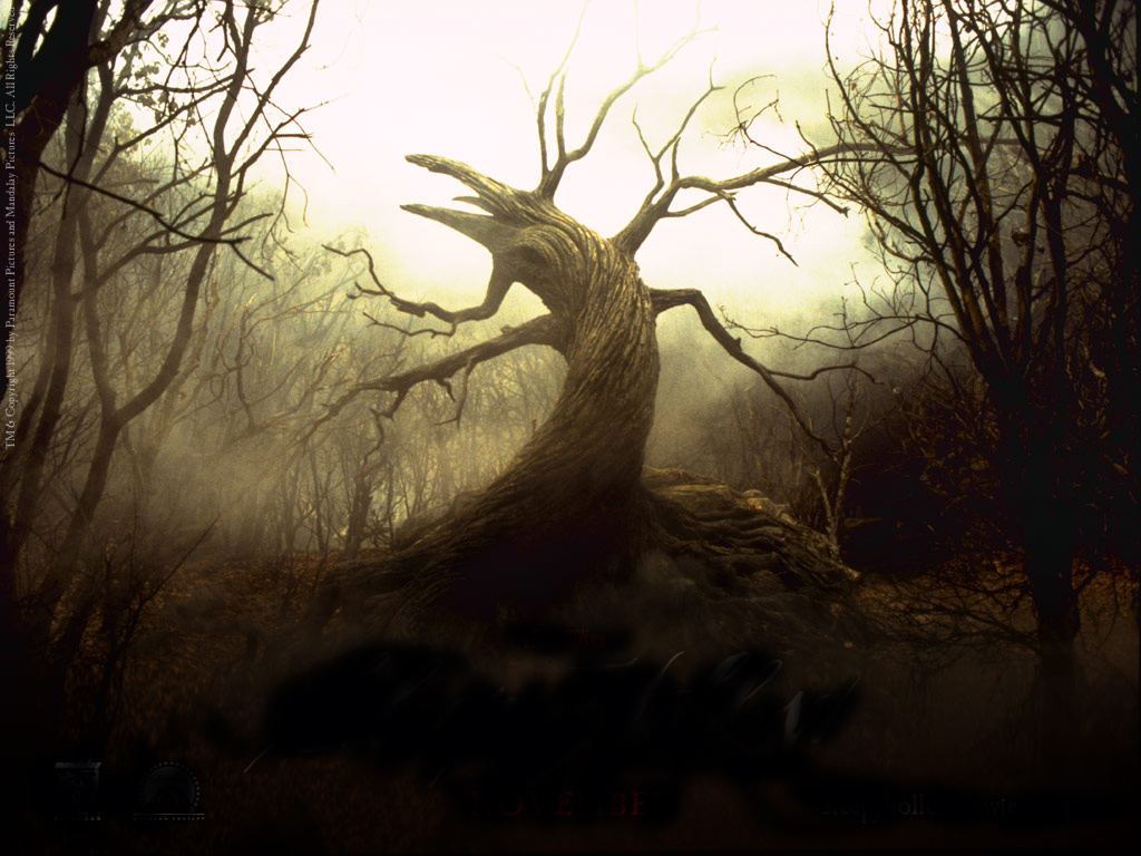 Scary tree for Creepy trees for halloween